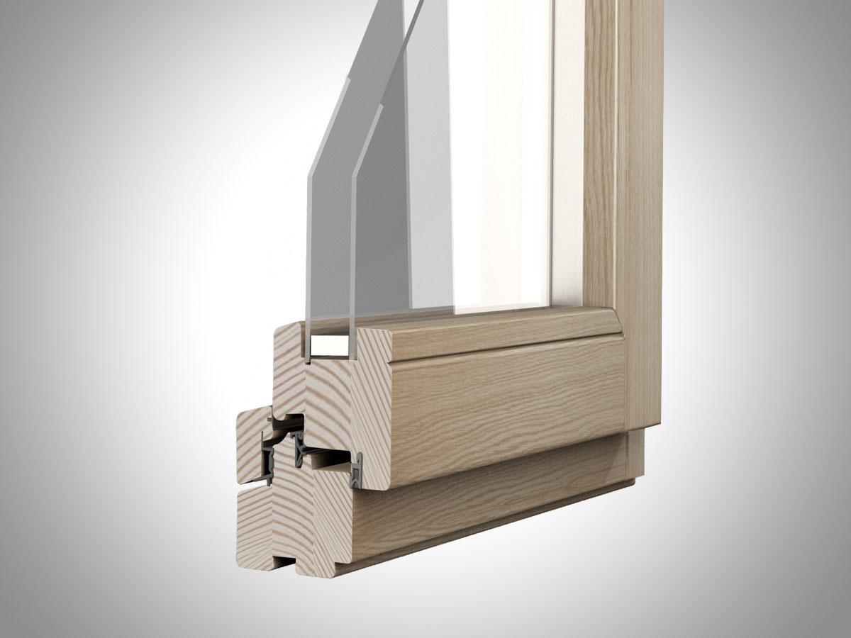 Legno e legno alluminio caneva serramenti e facciate continue - Finestre di legno ...