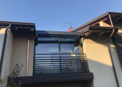 A - Cantiere abitazione residenziale chiusura terrazzo serramenti in alluminio Morbegno (2)